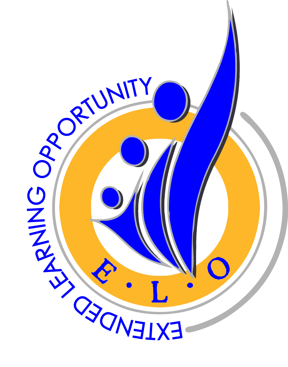 ELO logo blue and yellow